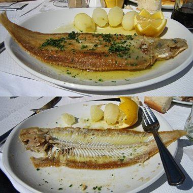 Sole meuniere - real Dover sole (Origin North Sea)
